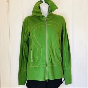 Lululemon Green Full Zip Mock Neck Track Jacket